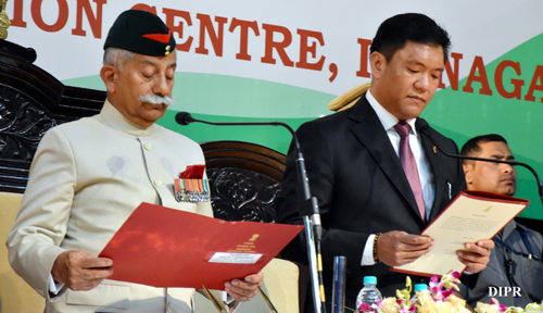 Shri Pema Khandu sworn-in as the Chief Minister of Arunachal Pradesh